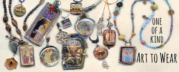 art-to-wear jewlery, pendants, medals