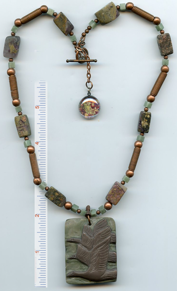 Brigid of Ireland Flying Geese Gemstone Necklace