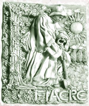 Fiacre sculptural plaque