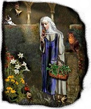 St. Gertrude patron of cats