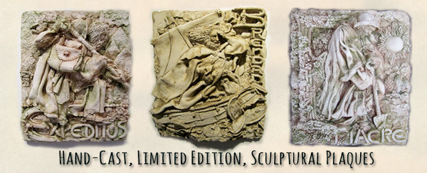 limited edition sculptural plaques