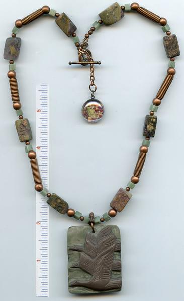 Brigid of Ireland Flying Geese Gemstone Necklace